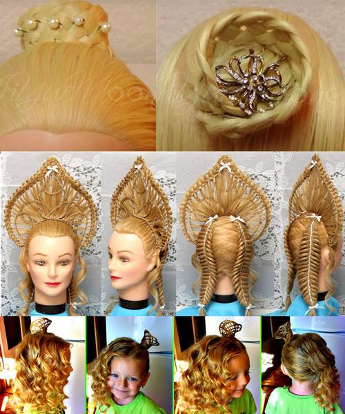 корона из волос для девочек