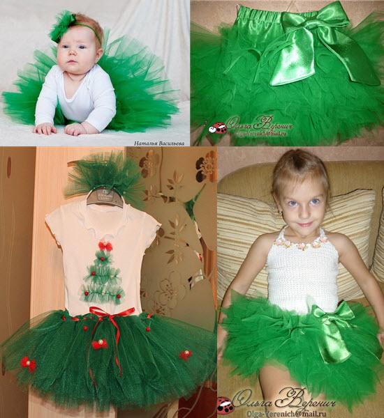 Как делается юбка ту-ту для девочки костюма елочки