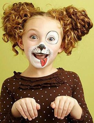 Как сделать ушки в костюме собаки ребенку девочке