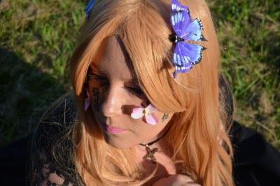 Костюм бабочки для девочки, макияж и украшения