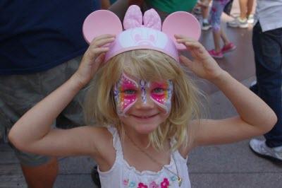 Макияж для костюма бабочки для девочки, аквагрим
