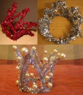 Корона для девочки каркас украшенный мишурой и бисером с бусинами