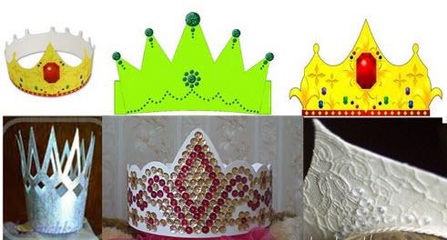 Как делается корона из бумаги просто, быстро, своими руками и в домашних условиях без специальных принадлежностей