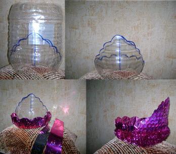 Как сделать корону своими руками из пластиковой бутылки а 5 минут