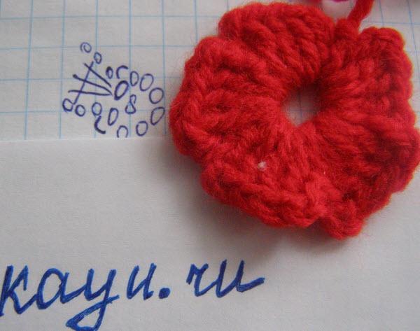 Цветок крючком схема и фото готового с описанием