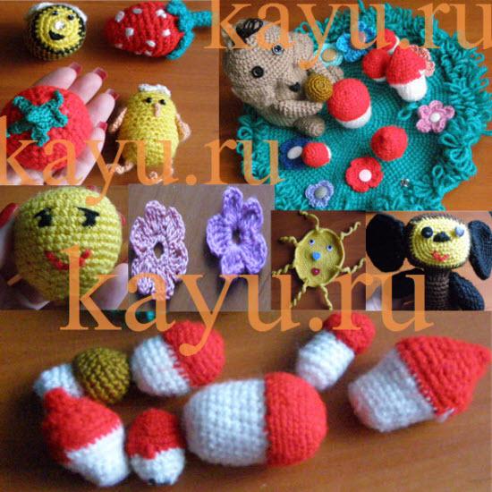 Как связать игрушку крючком начинающим фото игрушек: цветы, чебурашка, цыпленок, грибы, полянка, помидор, солнышко