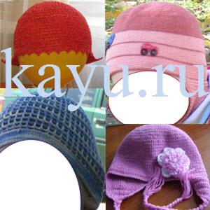 Как связать кепку, бандану, шапочку и панамку крючком для начинающих фото