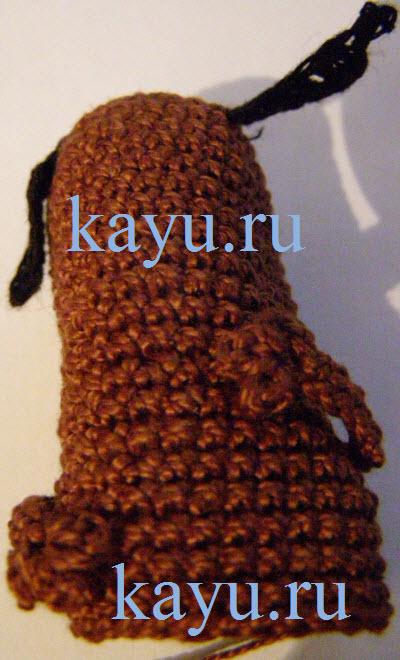 Пальчиковая игрушка собака, связанная крючком для начинающих бесплатно и пошагово со схемой и описанием